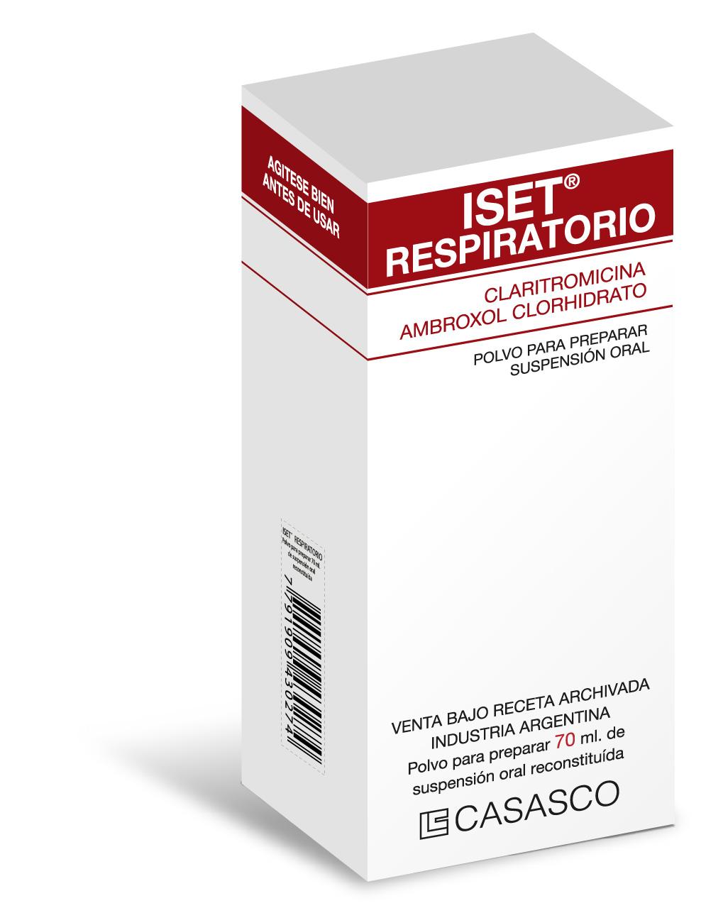 Iset Respiratorio Laboratorios Casasco